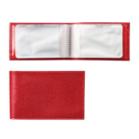 "BEFLER V.30.-3 Визитница карманная BEFLER ""Ящерица"", на 40 визитных карт, натуральная кожа, тиснение, красная, V.30.-3"