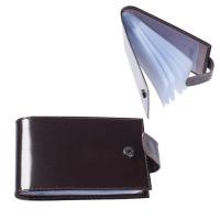 "BEFLER V.31.-1 Визитница карманная BEFLER ""Classic"" на 40 визиток, натуральная кожа, кнопка, коричневая, V.31.-1"