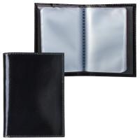 "BEFLER V.32.-1 Визитница карманная BEFLER ""Classic"" на 40 визиток, натуральная кожа, черная, V.32.-1"