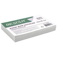 BESTAR 123004 Блок для записей BESTAR непроклеенный, блок 15х10 см, 200 листов, белый, белизна 90-92%, 123004