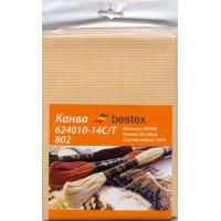 """Bestex 00000067583 Канва """"Bestex"""" 624010-14C/T 802, 50*50 см, цвет бежевый"""