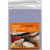 "Bestex 00000067644 Канва ""Bestex"" 624010-14C/T 968, 50*50 см, цвет серый"