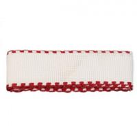 Bestex 7707138 Канва ленточная, 100% хлопок, цвет белый/красный