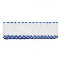 Bestex 7707138 Канва ленточная, 100% хлопок, цвет белый/синий