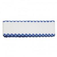 "Bestex 7707138 Канва ленточная ""Bestex"" 7707138, 100% хлопок, 1,5м х 3,5 см, цвет белый/синий"