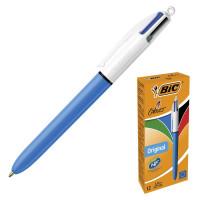 """BIC 889969 Ручка шариковая автоматическая BIC """"4 Colours Original"""", 4 цвета (синий, черный, красный, зеленый), линия письма 0,32 мм, 889969"""