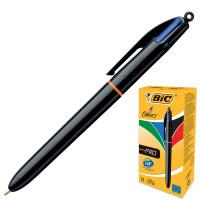 """BIC 902129 Ручка шариковая автоматическая BIC """"4 Colours Pro"""", 4 цвета (синий, черный, красный, зеленый), узел 1 мм, линия письма 0,32 мм, 902129"""