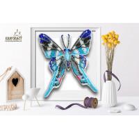 БЛАГОВЕСТ Б-009 Набор для вышивания 3-D бабочка. Rhetus arcius 14х12 см