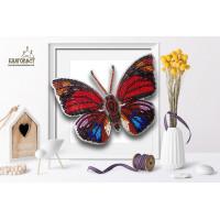 БЛАГОВЕСТ Б-010 Набор для вышивания 3-D бабочка. Agrias Claudina Lugens 13,5 х 10см.