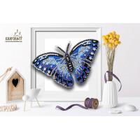 БЛАГОВЕСТ Б-011-2 Набор для вышивания 3-D бабочка. Морфо Пеллеида 13,5х8,5 см