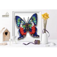 БЛАГОВЕСТ Б-018 Набор для вышивания 3-D бабочка. Ancyluris Formosissima 12,5х13 см