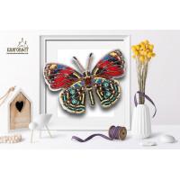 БЛАГОВЕСТ Б-019 Набор для вышивания 3-D бабочка. Callicore Hesperis 13х9 см