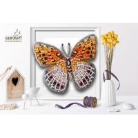 БЛАГОВЕСТ Б-023 Набор для вышивания 3-D бабочка. Euptoieta Claudia 13х11,5 см