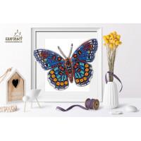 БЛАГОВЕСТ Б-024 Набор для вышивания 3-D бабочка. Limenitis Astyanax 13,5х10 см