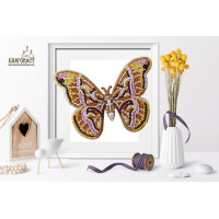 БЛАГОВЕСТ Б-025 Набор для вышивания 3-D бабочка. Samia Cynthia 14х10 см