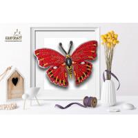 БЛАГОВЕСТ Б-027 Набор для вышивания 3-D бабочка. Cymothoe Excelsa 13 х 8,5 см