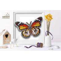 БЛАГОВЕСТ Б-029 Набор для вышивания 3-D бабочка. Danaus Chrysippus Alcippus 14х9 см