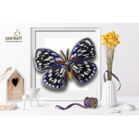 БЛАГОВЕСТ Б-030 Набор для вышивания 3-D бабочка. Euxanthe Eurinome 13,5х10 см