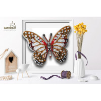 БЛАГОВЕСТ Б-031 Набор для вышивания 3-D бабочка. Graphium Angolanus 13х10 см