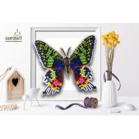 БЛАГОВЕСТ Б-100 Набор для вышивания 3-D бабочка. Chrysiridia Madagascarensis 13,5 х12 см