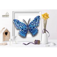 БЛАГОВЕСТ Б-101 Набор для вышивания 3-D бабочка. Hamadryas Feronia 15х11,5 см
