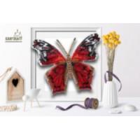 БЛАГОВЕСТ Б-104 Набор для вышивания 3-D бабочка. Hypanartia 14,5х12,5 см