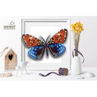 БЛАГОВЕСТ Б-106 Набор для вышивания 3-D бабочка. Erasmia 15х9 см