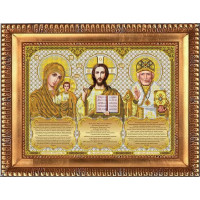 БЛАГОВЕСТ И-3001 Рисунок на ткани И-3001 Триптих с молитвами в золоте