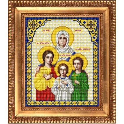 Рисунок на ткани И-4056 Святые Мученицы Вера, Надежда, Любовь и мать их София (арт. И-4056)