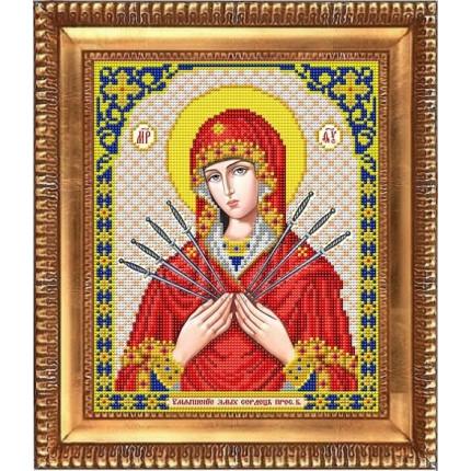 Рисунок на ткани И-4087 Пресвятая Богородица Семистрельная (арт. И-4087)