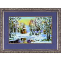 БЛАГОВЕСТ К-3008 Рисунок на ткани К-3008 Зимний пейзаж