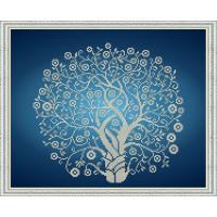 БЛАГОВЕСТ К-3064 Рисунок на ткани К-3064 Дерево изобилия и достатка в серебре