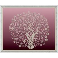 БЛАГОВЕСТ К-3065 Рисунок на ткани К-3065 Дерево изобилия и достатка в золоте