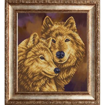 Рисунок на ткани К-3142-ш Пара волков (арт. К-3142-ш)