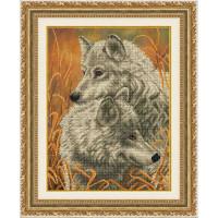 БЛАГОВЕСТ К-3510 Рисунок на ткани К-3510 Белые волки