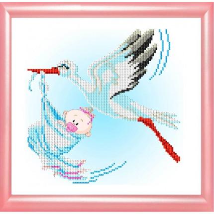 Рисунок на ткани К-4011 С рождением девочки (арт. К-4011)