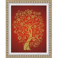 БЛАГОВЕСТ К-4026 Рисунок на ткани К-4026 Дерево изобилия и достатка в золоте