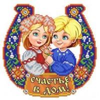 БЛАГОВЕСТ К-4069-ш Рисунок на ткани К-4069-ш Семейный оберег Счастье в дом