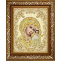БЛАГОВЕСТ ЖС-3004 Рисунок на ткани ЖС-3004 Пресвятая Богородица Казанская в жемчуге