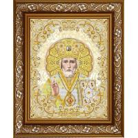 БЛАГОВЕСТ ЖС-3006 Рисунок на ткани ЖС-3006 Святой Николай в жемчуге