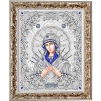 БЛАГОВЕСТ ЖС-3009 Рисунок на ткани ЖС-3009 Пресвятая Богородица Семистрельная в жемчуге