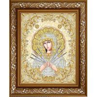 БЛАГОВЕСТ ЖС-3010 Рисунок на ткани ЖС-3010 Пресвятая Богородица Семистрельная в жемчуге