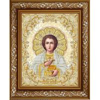 БЛАГОВЕСТ ЖС-3015 Рисунок на ткани ЖС-3015 Святой Пантелеймон Целитель в жемчуге