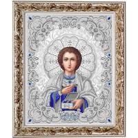 БЛАГОВЕСТ ЖС-3016 Рисунок на ткани ЖС-3016 Святой Пантелеймон Целитель в жемчуге