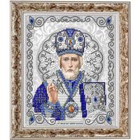 БЛАГОВЕСТ ЖС-4003 Рисунок на ткани ЖС-4003 Святой Николай в жемчуге