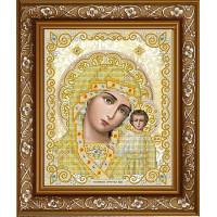 БЛАГОВЕСТ ЖС-4004 Рисунок на ткани ЖС-4004 Пресвятая Богородица Казанская в жемчуге