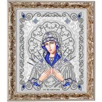 БЛАГОВЕСТ ЖС-4011 Рисунок на ткани ЖС-4011 Пресвятая Богородица Семистрельная в жемчуге