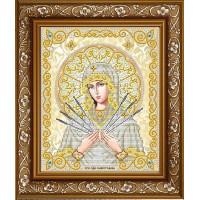БЛАГОВЕСТ ЖС-4012 Рисунок на ткани ЖС-4012 Пресвятая Богородица Семистрельная в жемчуге