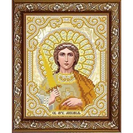 Рисунок на ткани ЖС-5017 Св. Архангел Михаил  в жемчуге (арт. ЖС-5017)