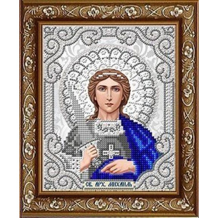 Рисунок на ткани ЖС-5018 Св.Архангел Михаил  в жемчуге (арт. ЖС-5018)